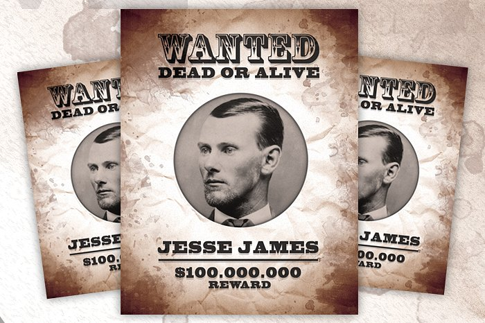 print ready wanted poster