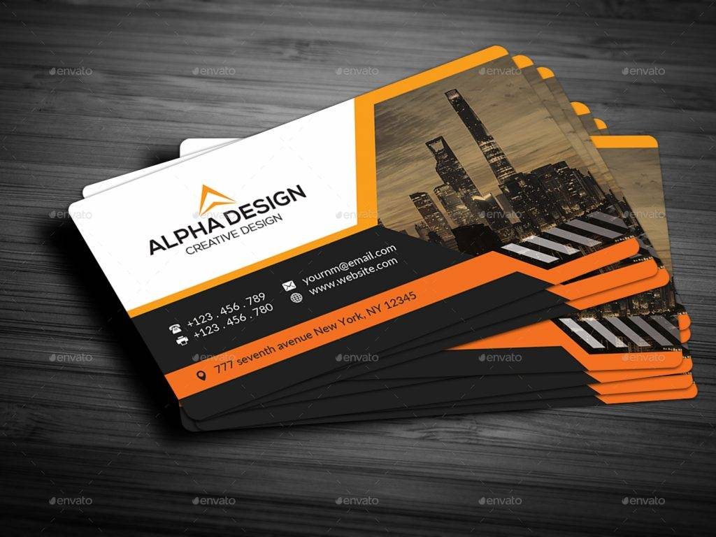 print ready and customizable corporate business card