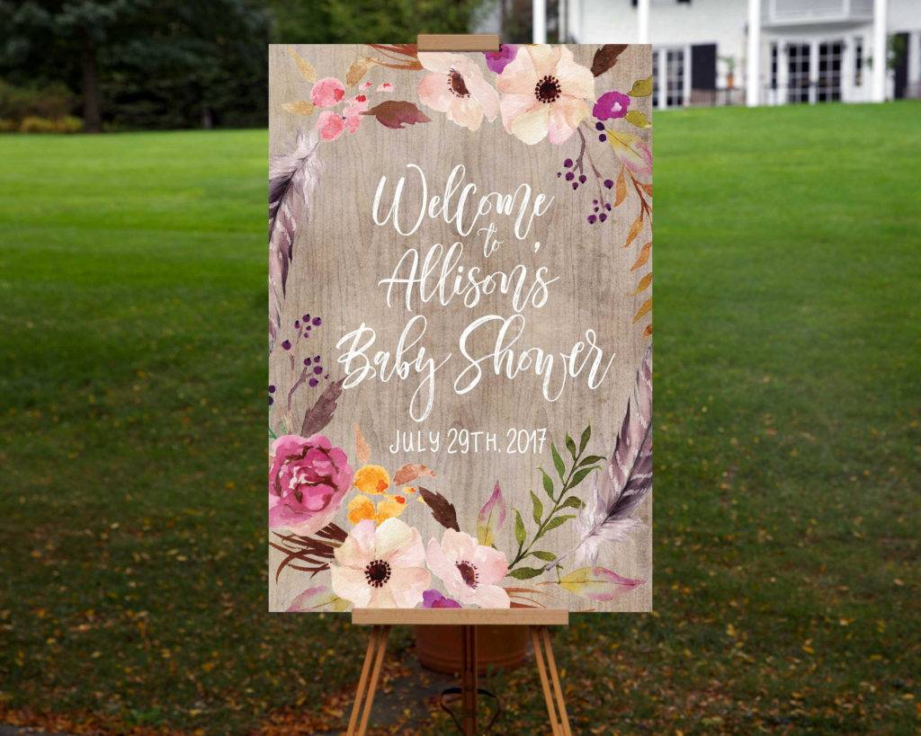 printable baby shower welcome signage design example 1024x819