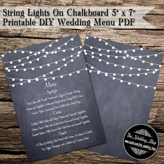 printable diy wedding menu example