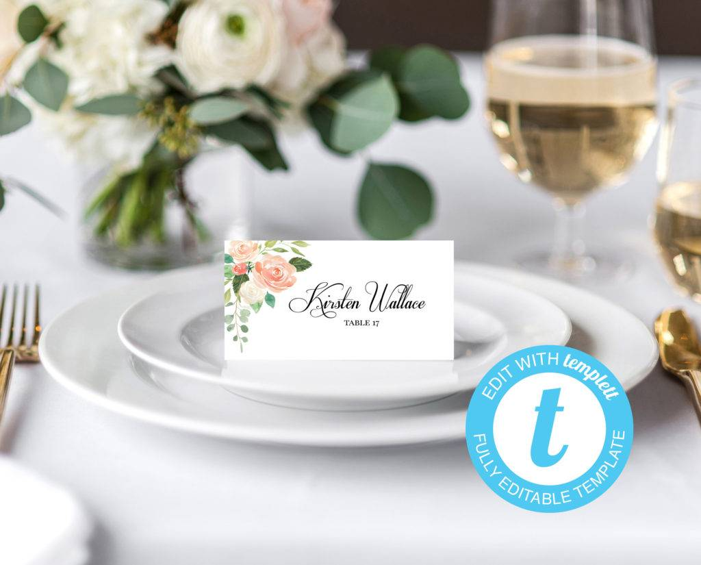 printable guest name card example
