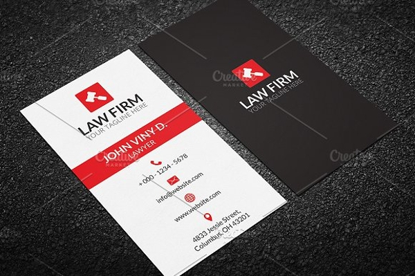 printable lawyer business card
