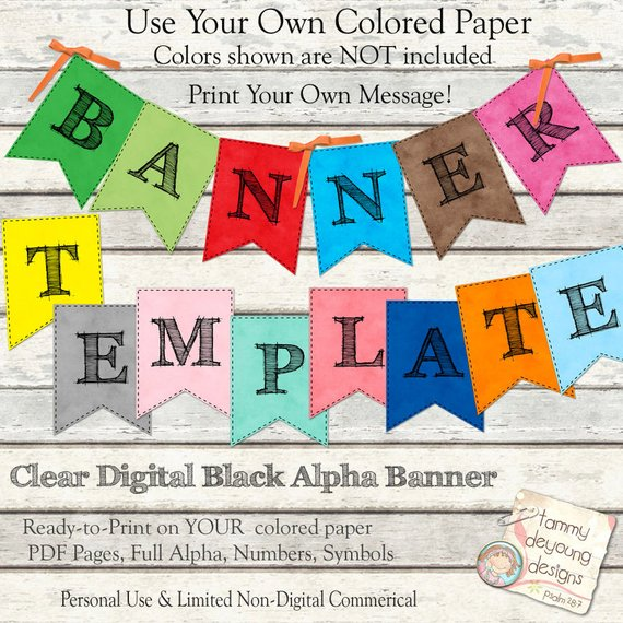 printable party banner example