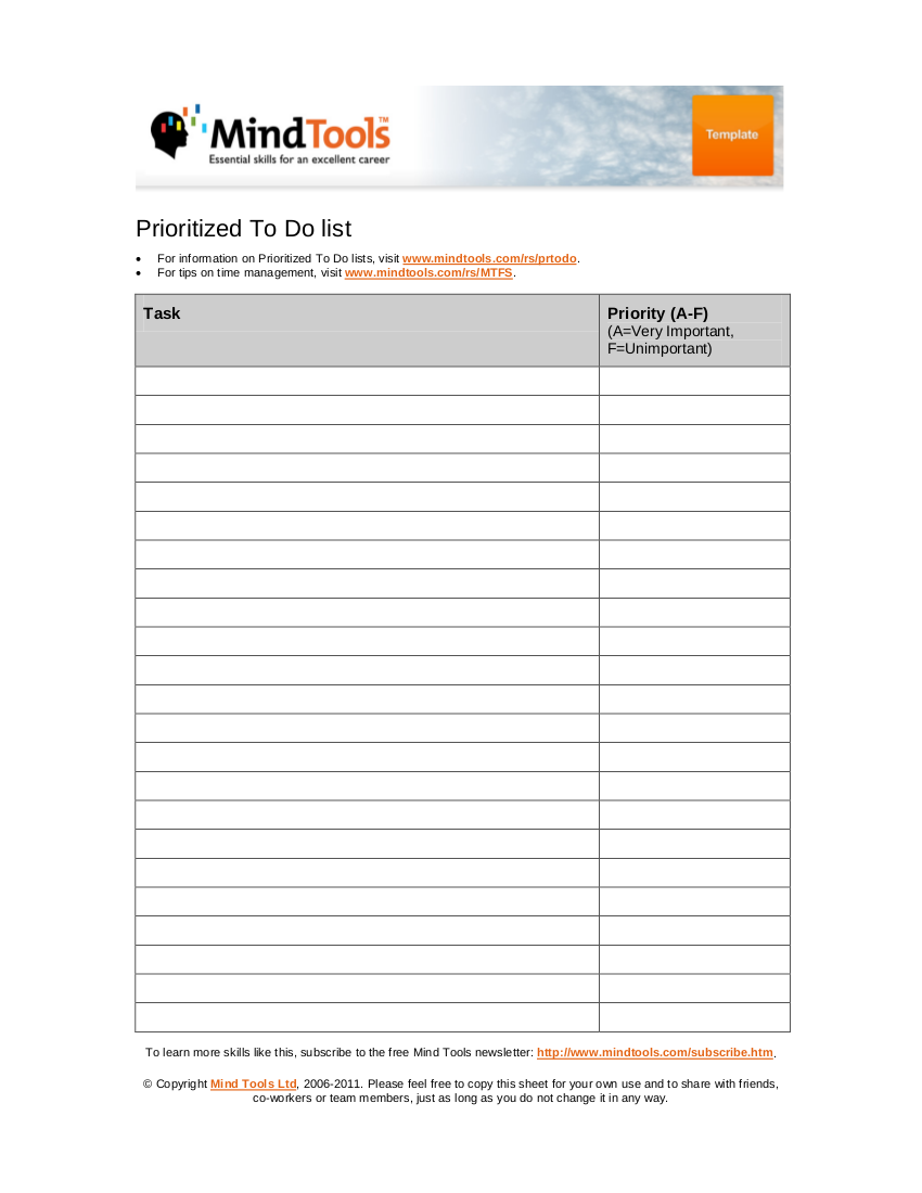 19 to do list templates and examples pdf