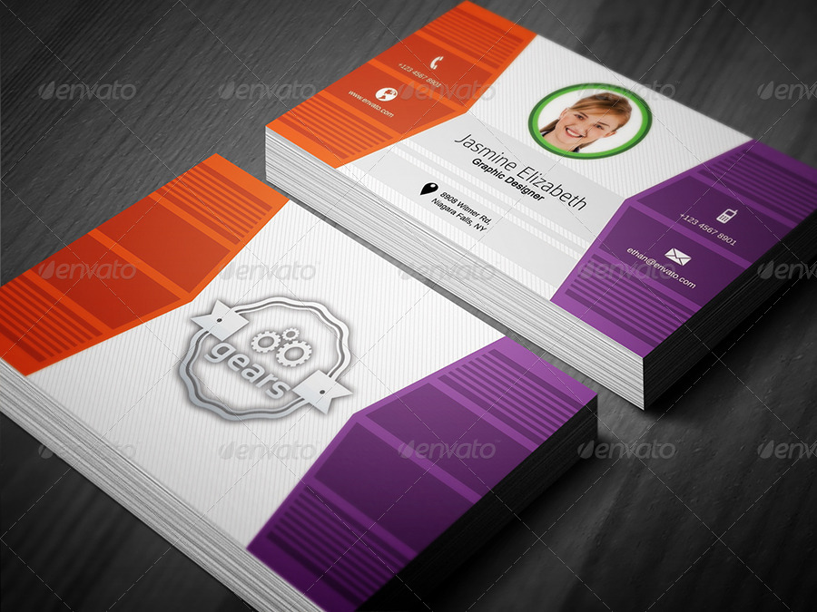 pro graphic designer business card example