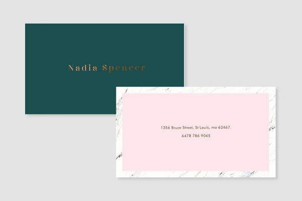 pure elegance business card example