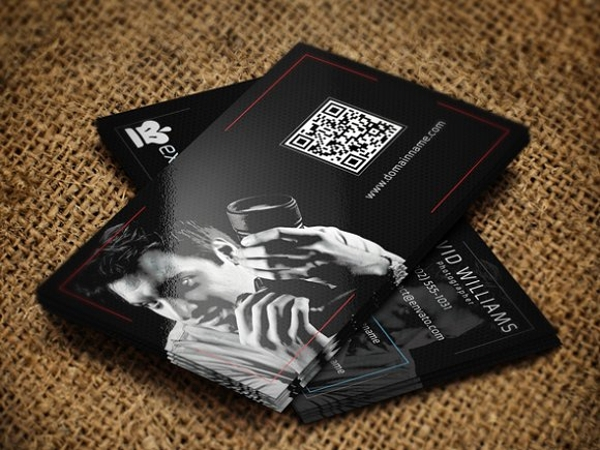 qr code photography business card example1