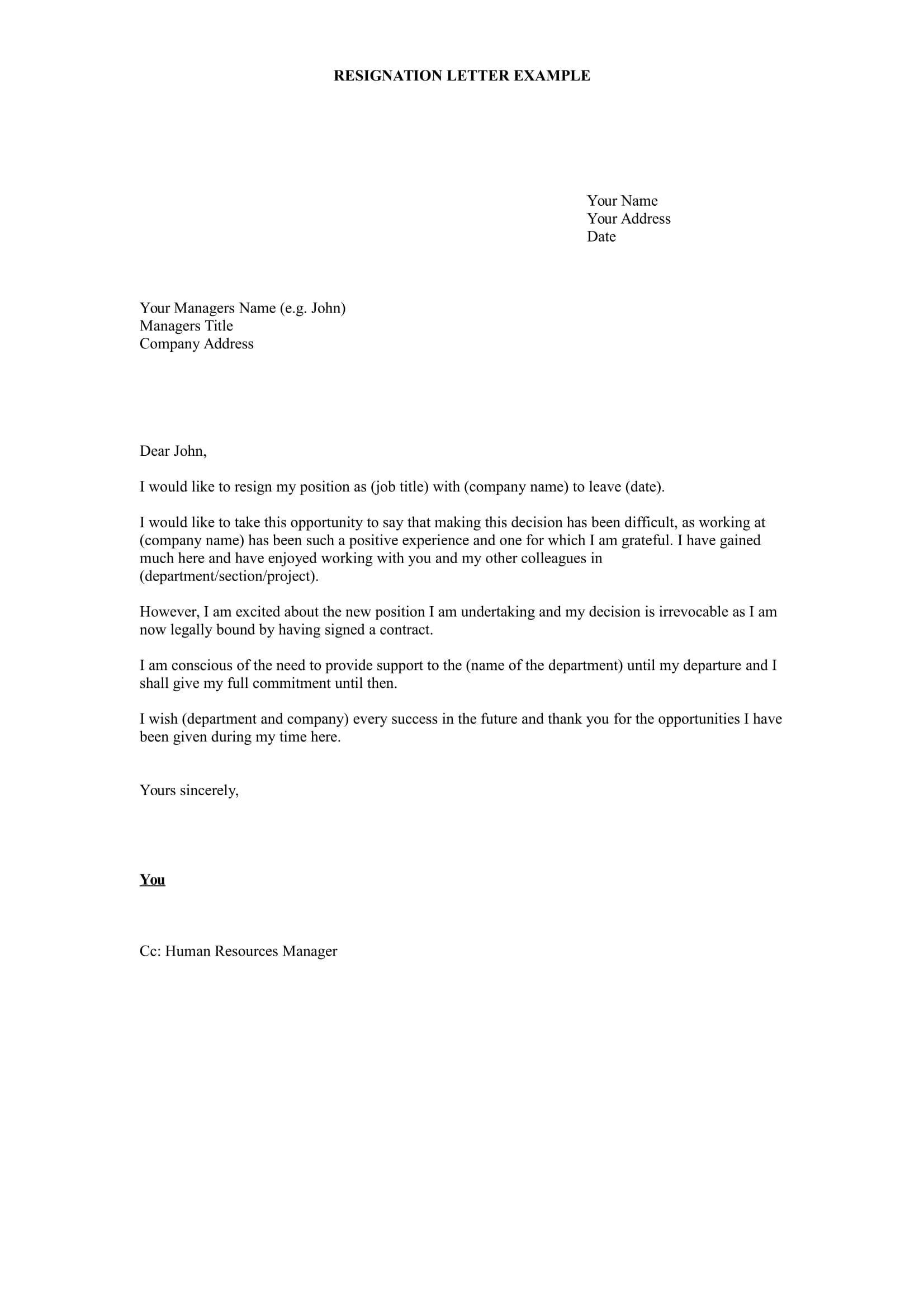 Microsoft Word Letter Of Resignation Template from images.examples.com