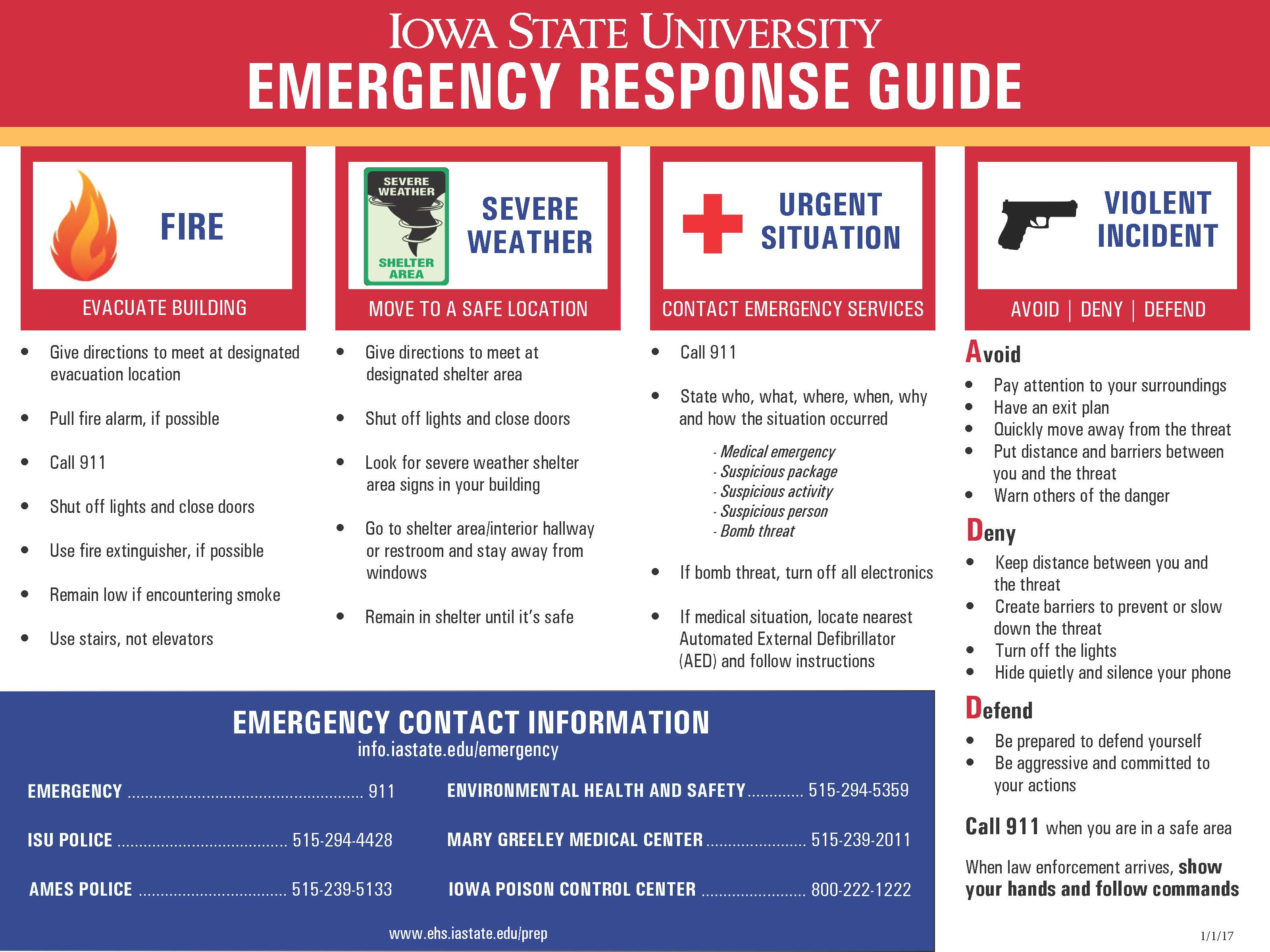 response guide emergency management plan example