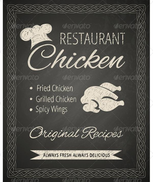 restaurant chalkboard poster