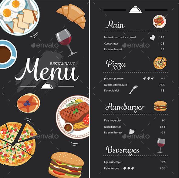 restaurant food menu example