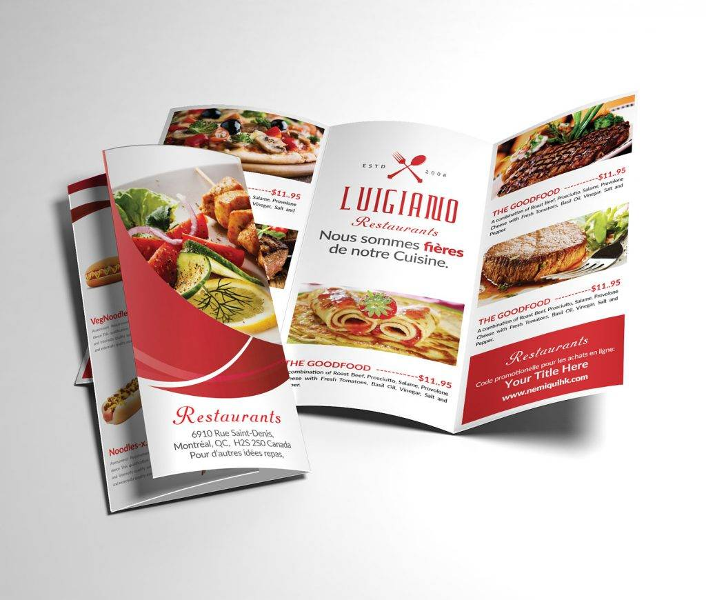 restaurant indesign menu brochure example 1024x870