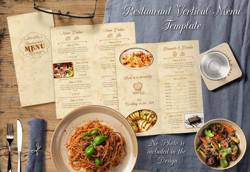 restaurant indesign menu template example 1024x707