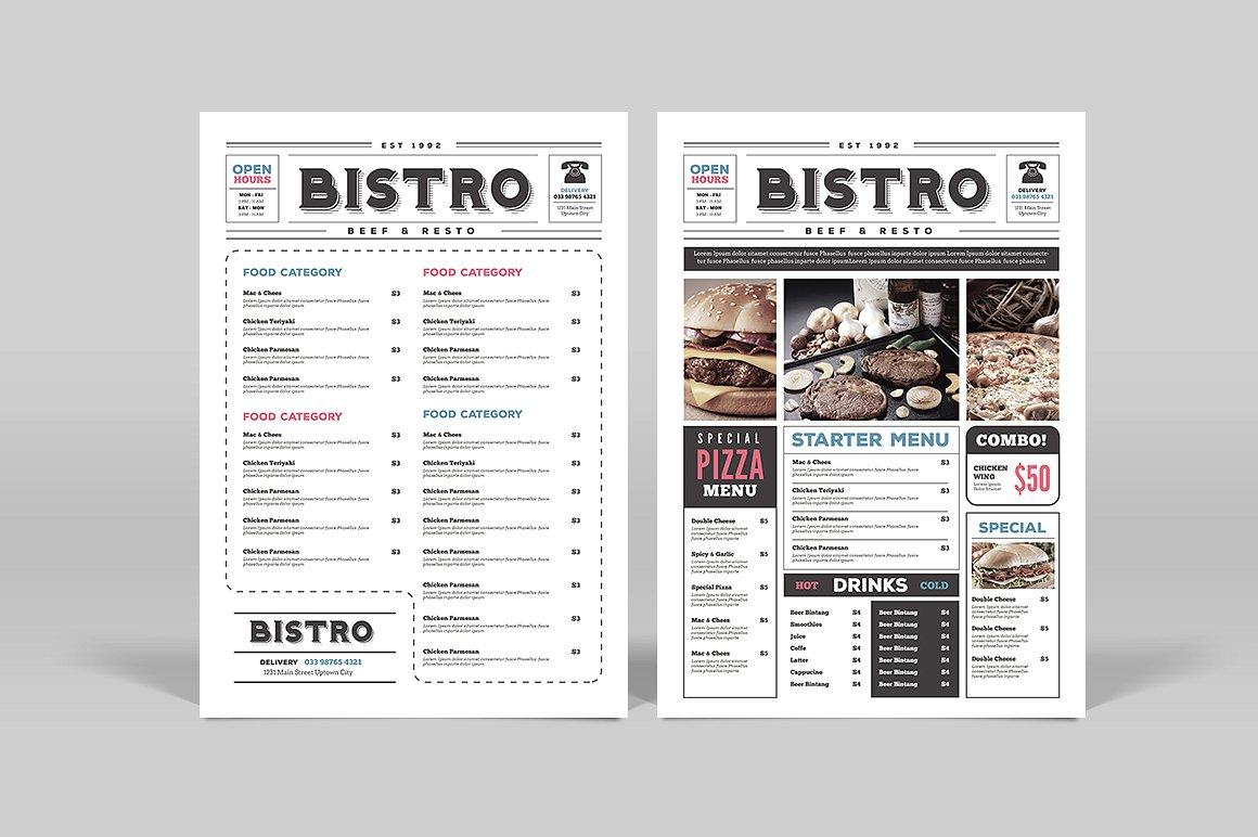 restaurant menu 14