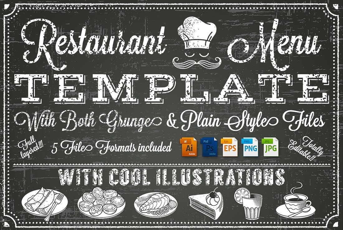 restaurant menu chalkboard new example