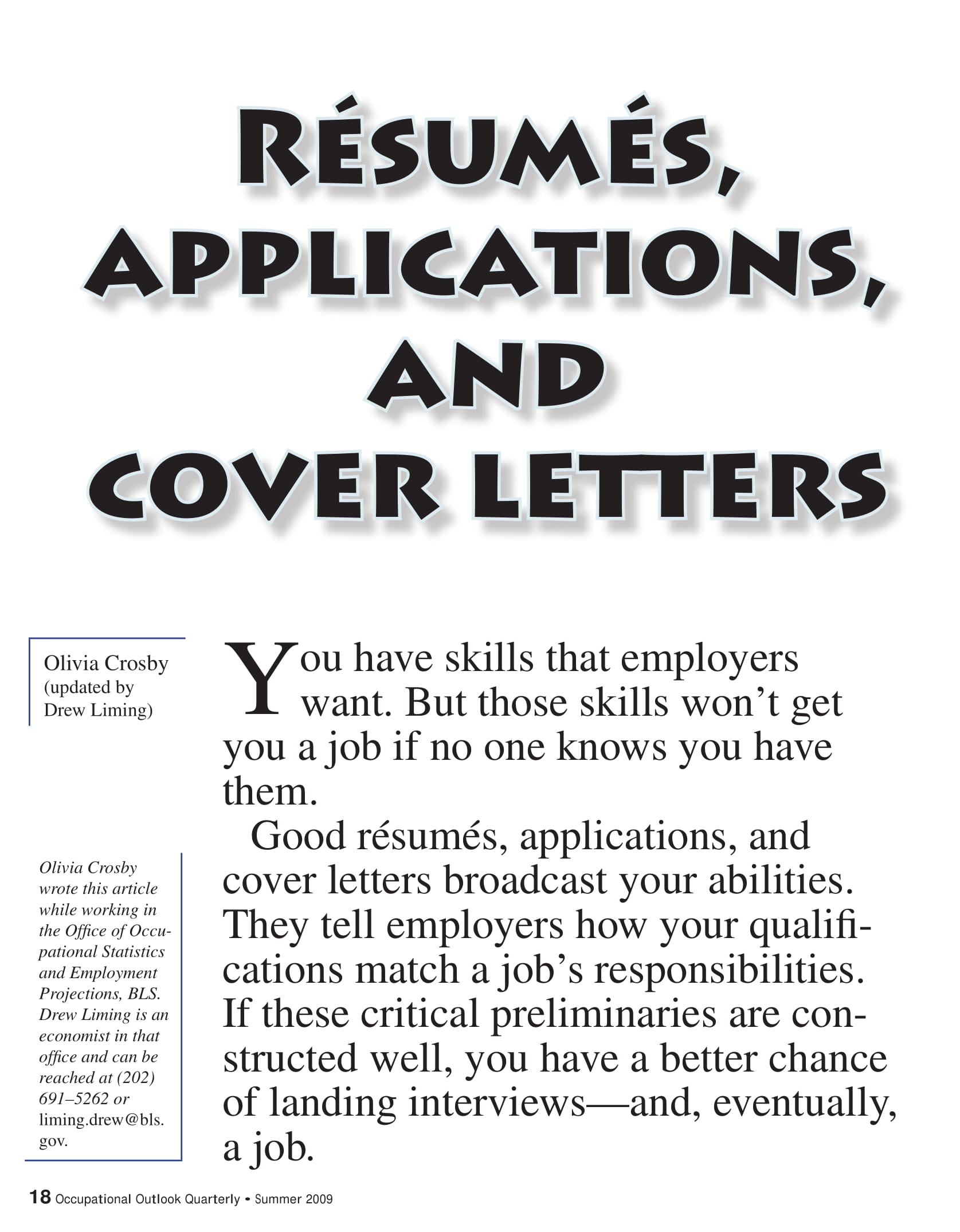 resumes application and cover letter example