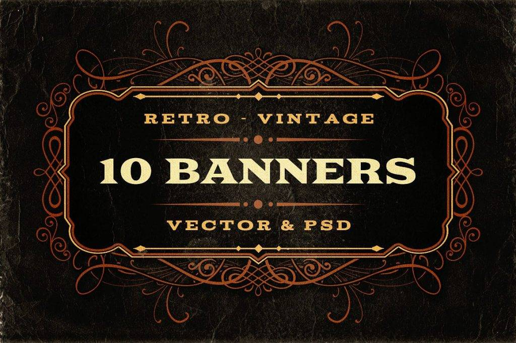 retro or vintage banners example