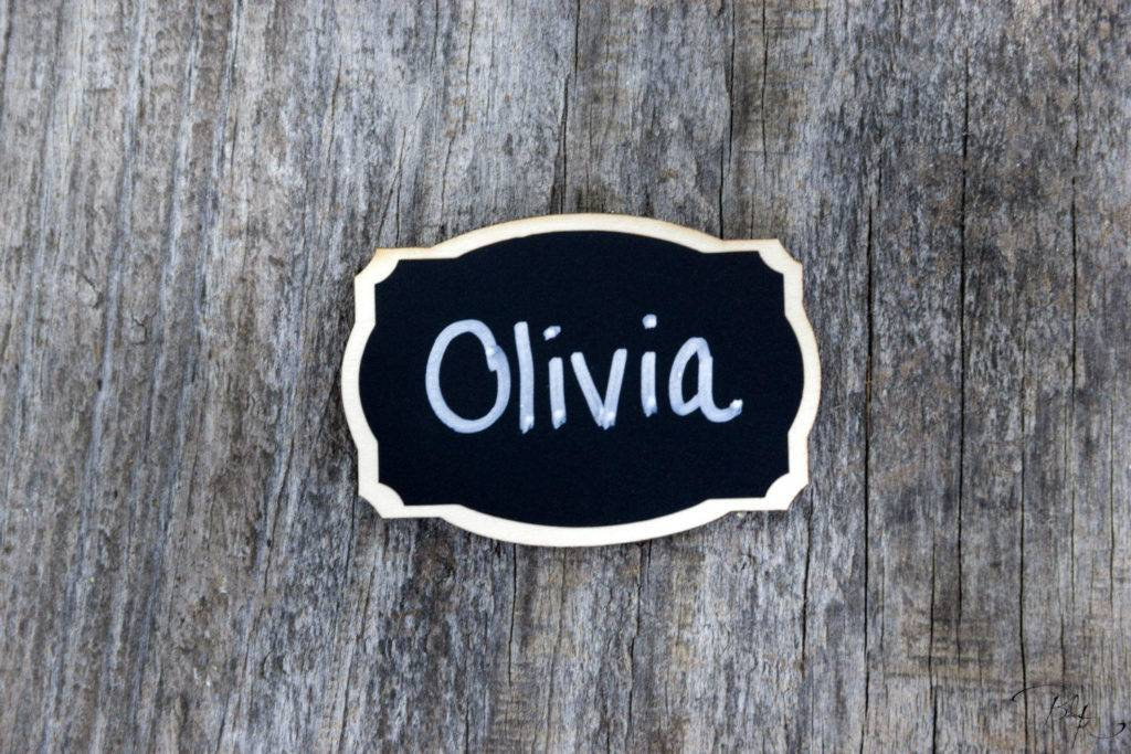 reusable magnetic chalkboard name tag example