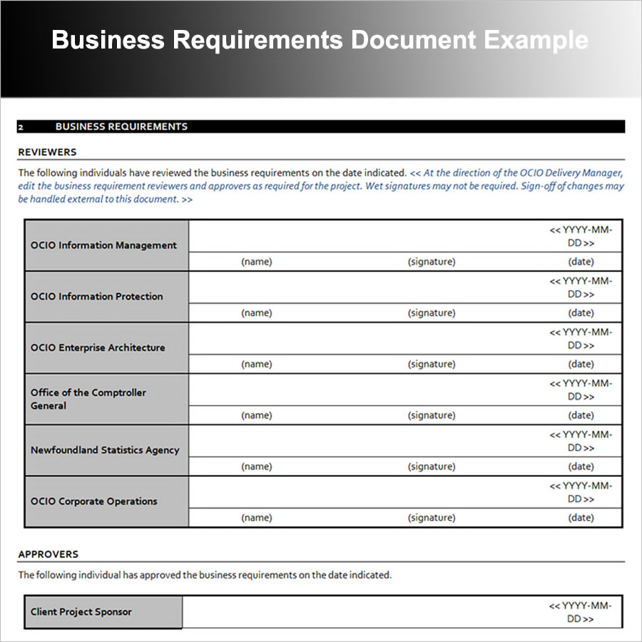 12 business requirements document examples pdf reviewers business requirements document example accmission Gallery