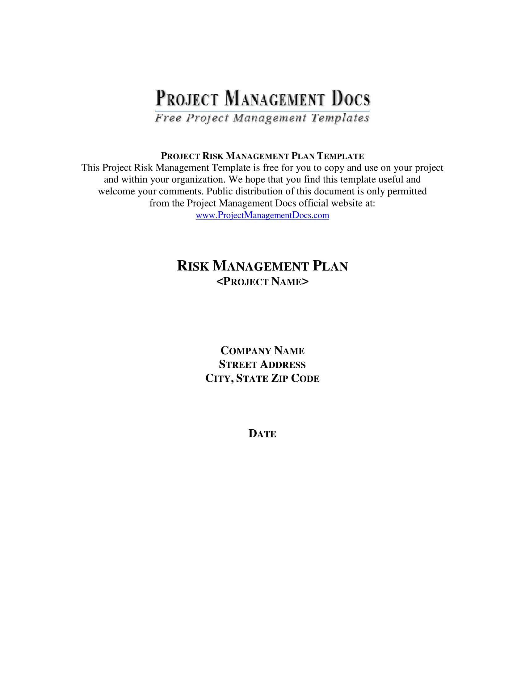 risk management plan 1
