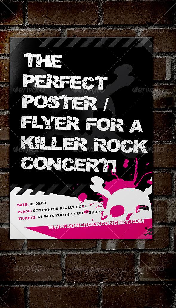 rock concert poster example