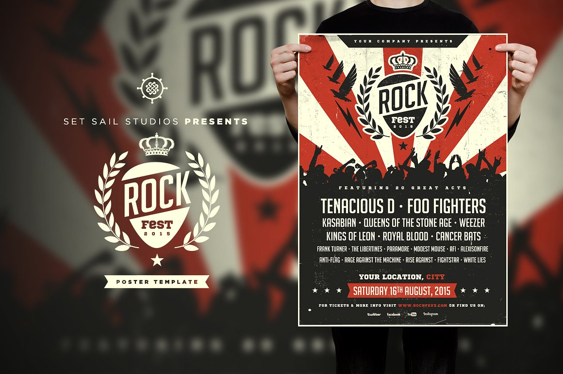 rock fest event poster example