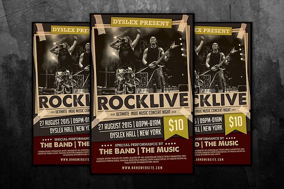 rocklive music concert poster example