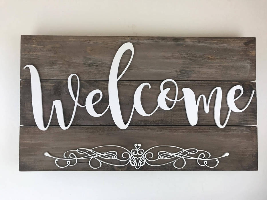 rustic welcome signage design example