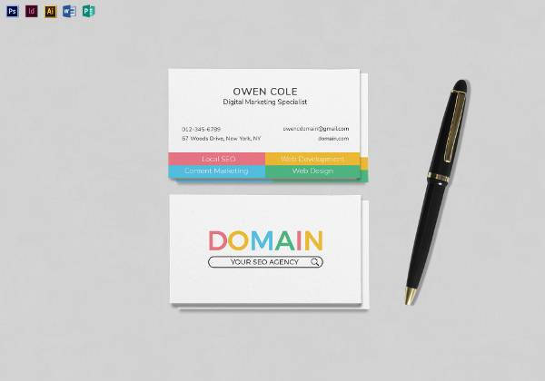 seo business card template1