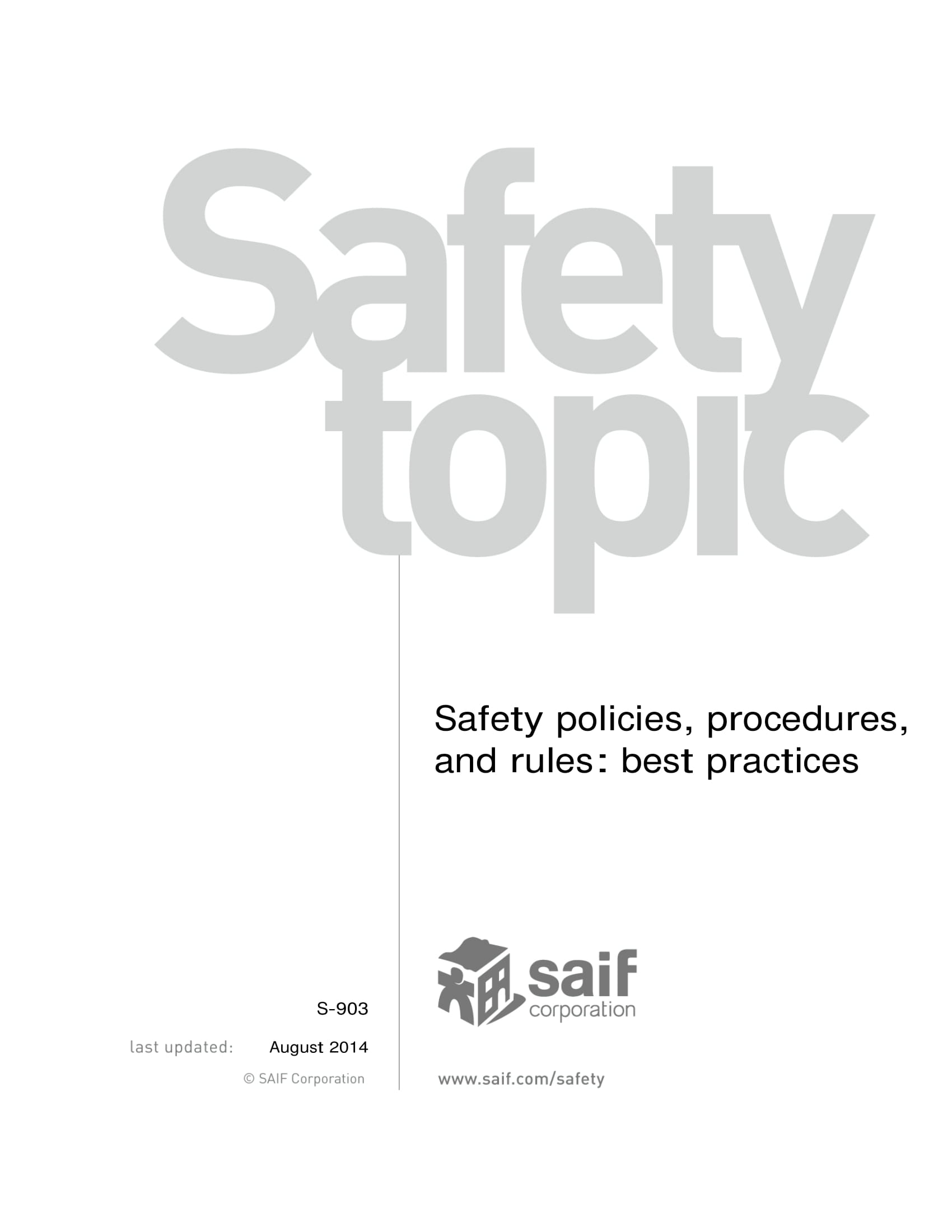 safety policies procedures and employee work rules