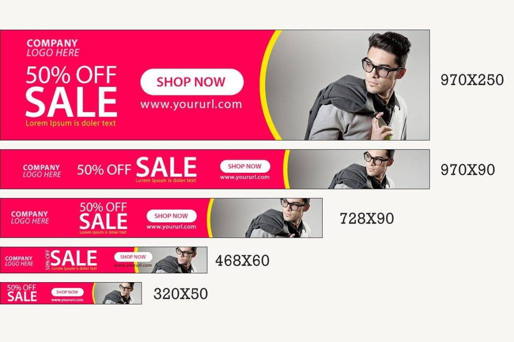 sales web banner example