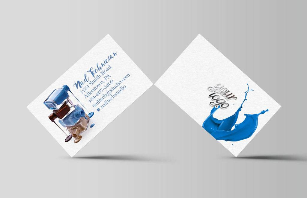 salon nail technician business card example