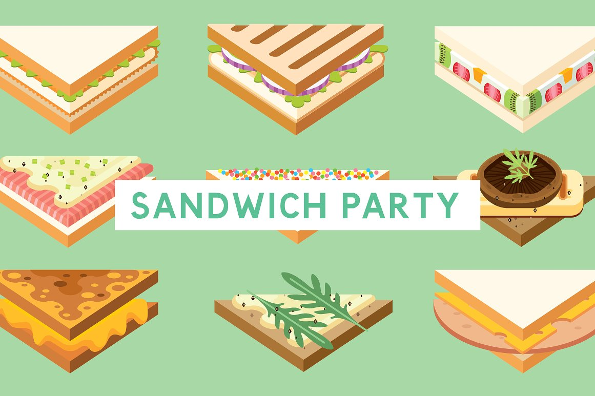 sandwich party template for menu example