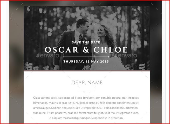 save the date email invitation bundle example
