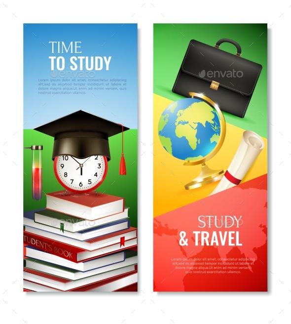 school graduation vertical banner example