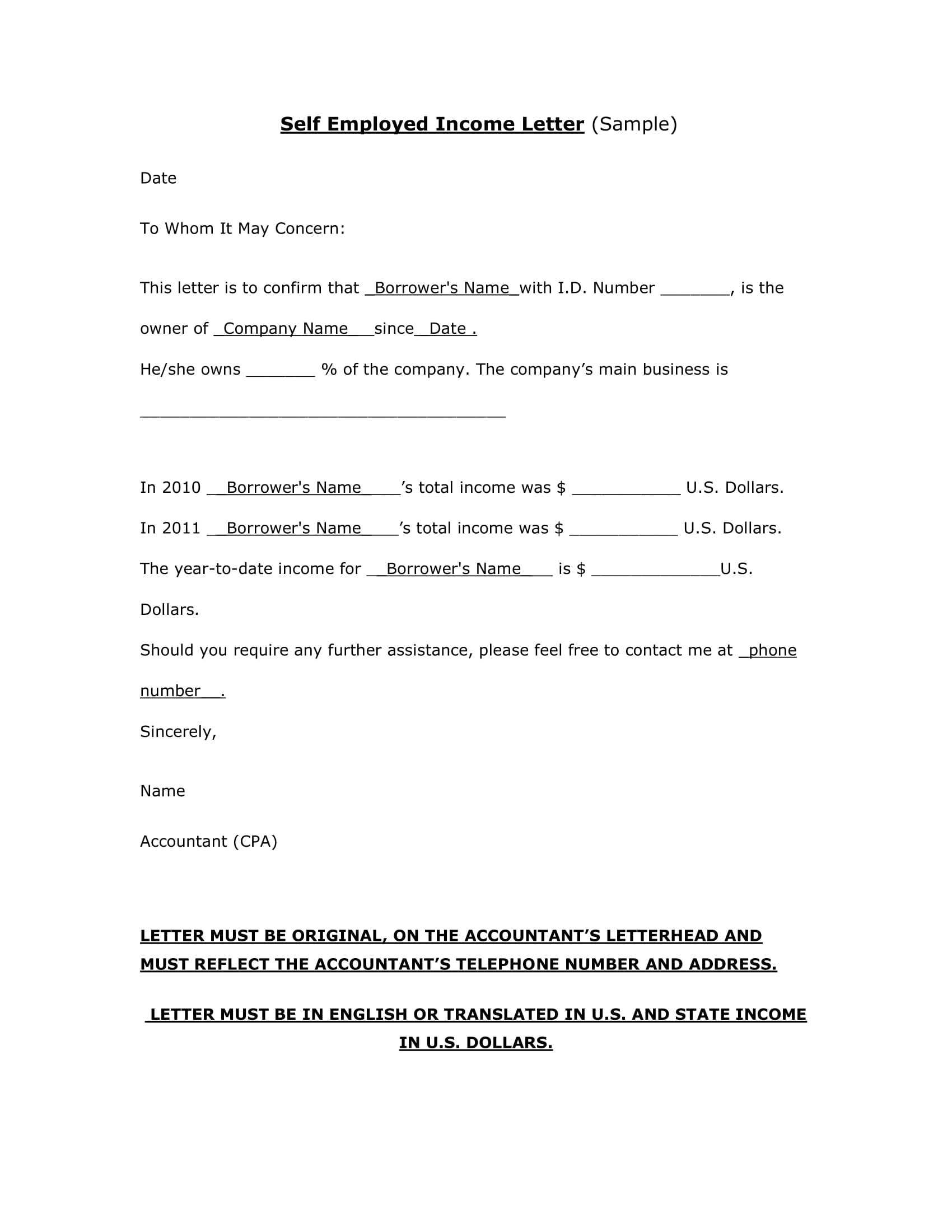 9 Income Verification Letter Pdf Doc