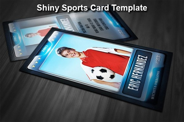 shiny sports trading card example
