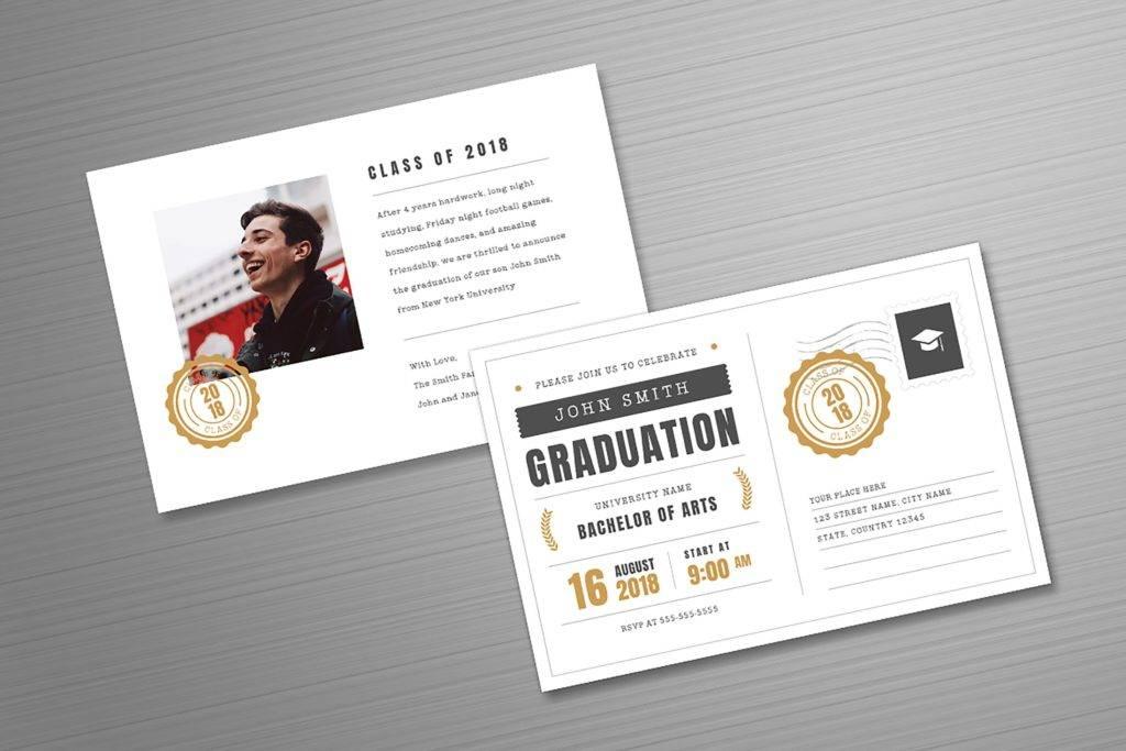 siimple postcard graduation invitation example