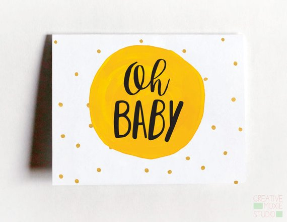 simple baby greeting card example