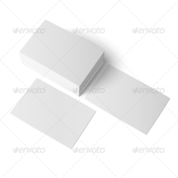 simple blank business cards