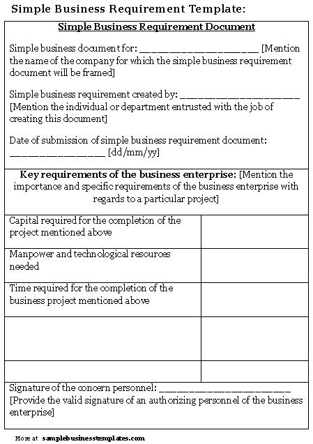 12 business requirements document examples pdf simple business requirements document example flashek Image collections