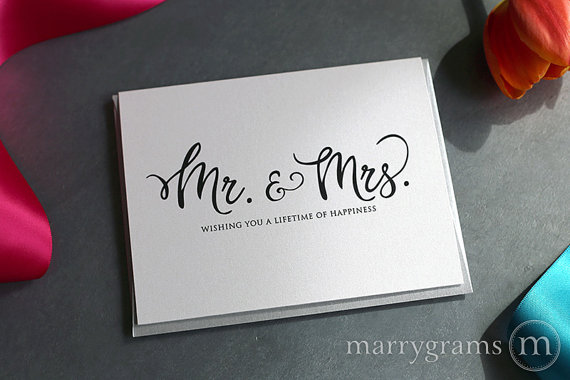simple calligraphy wedding card example1