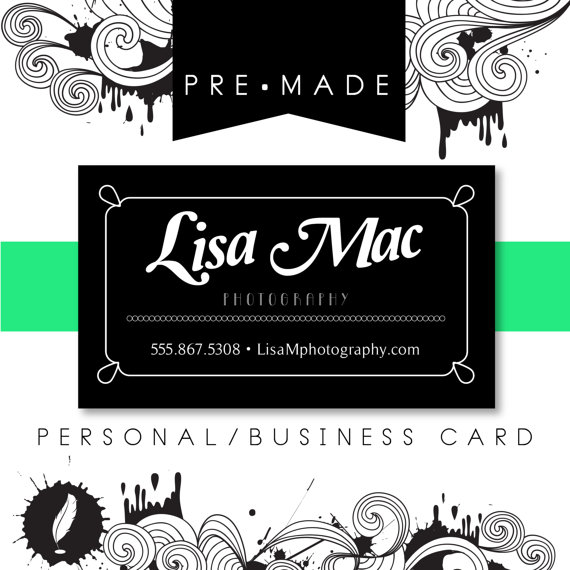 simple customizable personal business card example