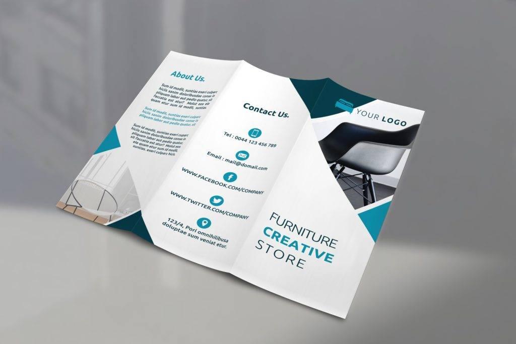 simple furniture tri fold brochure example