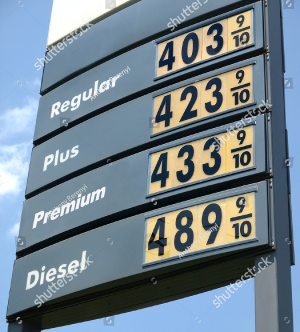simple gas price sign