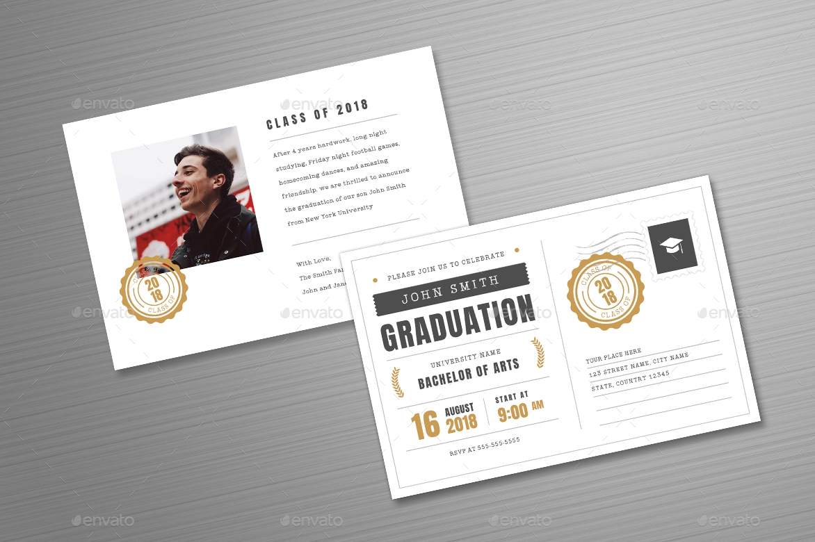 14 graduation postcard designs and examples psd ai simple graduation invitation postcard example filmwisefo