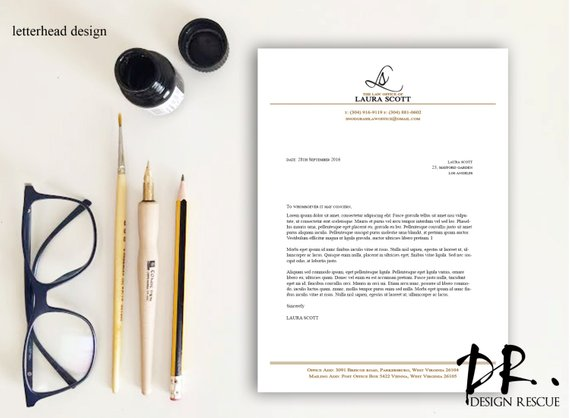 simple letterhead design example