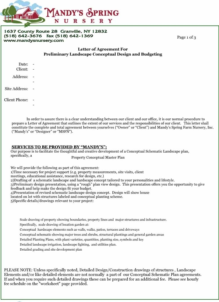 letter of agreement 12 simple agreement letter examples pdf word examples 22928 | Simple Nursery Agreement Letter Example