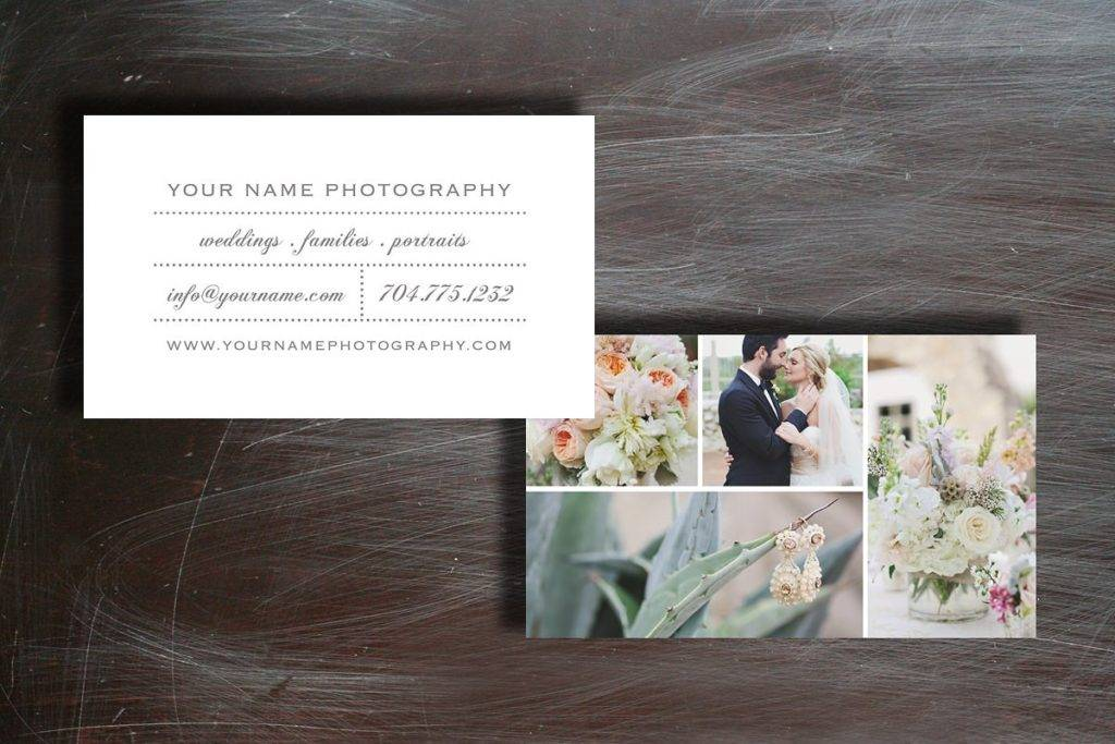 simple photo business card example