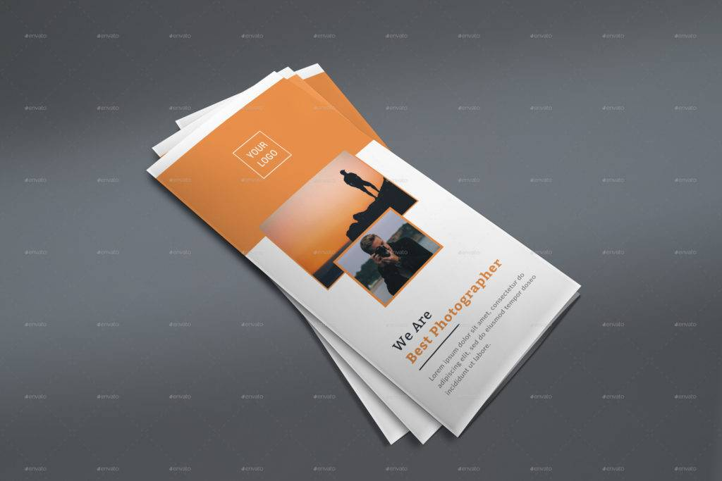simple photo trifold brochure example